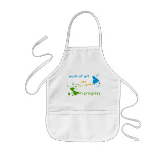 Work of Art in Progress for Adult and Child Kids Apron