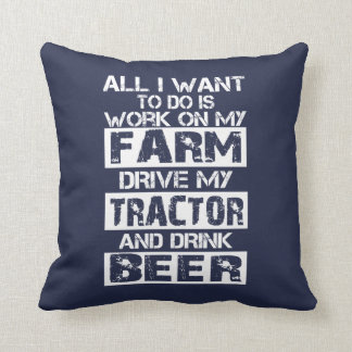 Work on my farm throw pillow