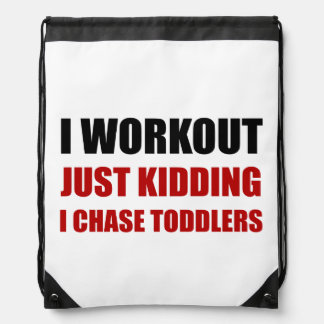 Work Out Just Kidding Chase Toddlers Drawstring Bag
