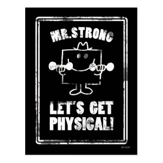 Work Out With Mr. Strong Postcard