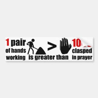 Work > Prayer Phrase - Bumper Sticker