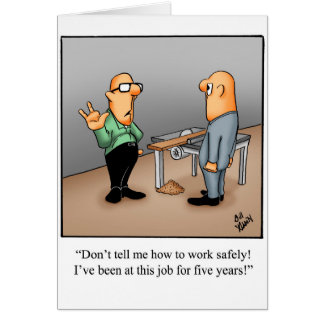 Work Safety Greeting Card Humor Blank