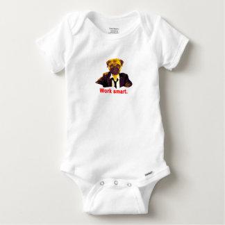 Work smart baby onesie