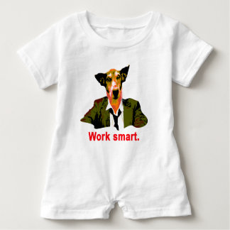 Work smart baby romper