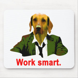 Work smart mouse pad