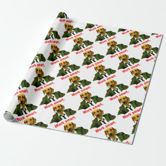 Work smart wrapping paper