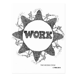 WORK: The Vicious Cycle Postcard
