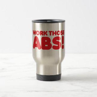 Work those ABS 15 Oz Stainless Steel Travel Mug