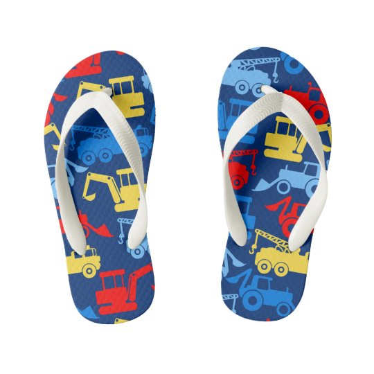 Work trucks kid's flip flops