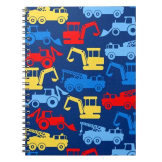 Work trucks spiral notebook
