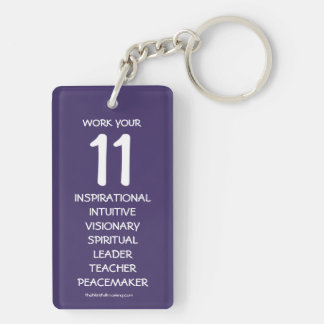 """""""Work your 11"""" Numerology Key Chain for Number 11"""