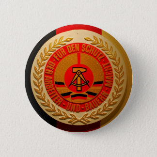 WORKER AND FARMER POWER 2 INCH ROUND BUTTON