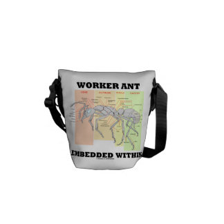 Worker Ant Embedded Within Ant Worker Morphology Commuter Bags