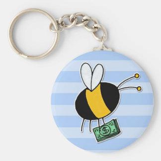 worker bee - banker keychain