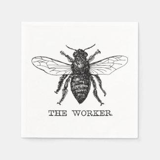 Worker Bee Bumblebee Vintage Motivational Disposable Napkins
