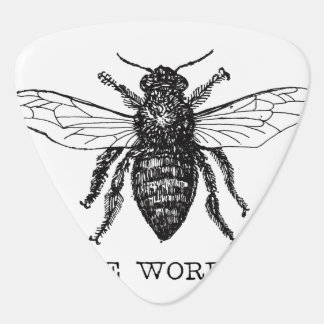 Worker Bee Bumblebee Vintage Motivational Guitar Pick