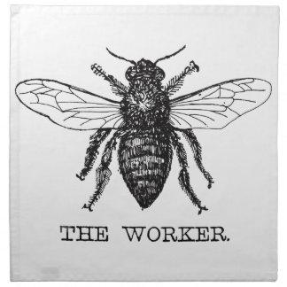 Worker Bee Bumblebee Vintage Motivational Napkin