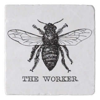 Worker Bee Bumblebee Vintage Motivational Trivet