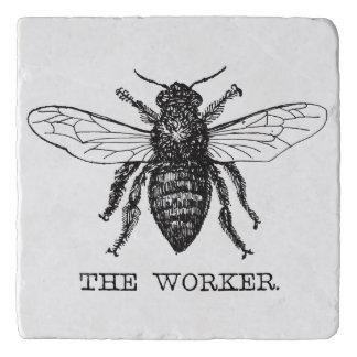 Worker Bee Bumblebee Vintage Motivational Trivet