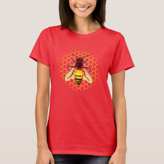 Worker Bee Closeup on Hive T-Shirt