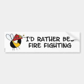worker bee - firefighter bumper sticker