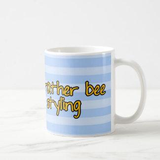 worker bee - hairdresser classic white coffee mug