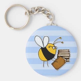 worker bee - librarian keychain