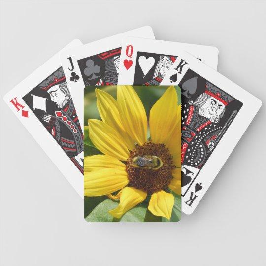 Worker Bee on Sunflower Poker Deck