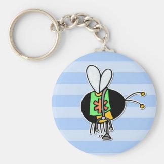 worker bee - paramedic basic round button keychain