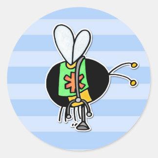 worker bee - paramedic round sticker