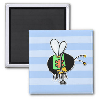 worker bee - paramedic square magnet
