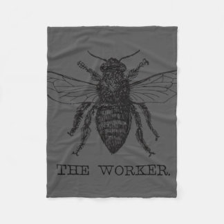 Worker Bee Pen and Ink Illustration Fleece Blanket