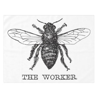 Worker Bee Pen and Ink Illustration Tablecloth