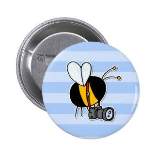 worker bee - photographer 2 inch round button
