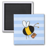 worker bee - preacher square magnet