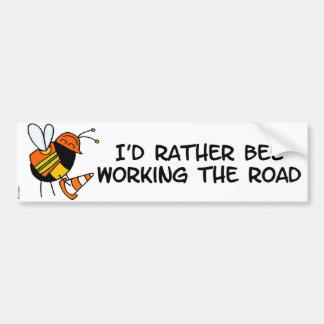 worker bee - road worker bumper sticker
