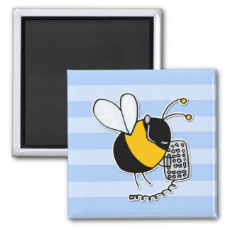 worker bee - sales square magnet