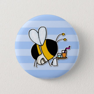 worker bee - waitress 2 inch round button