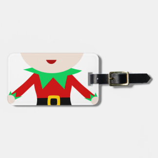Worker Elf Luggage Tag