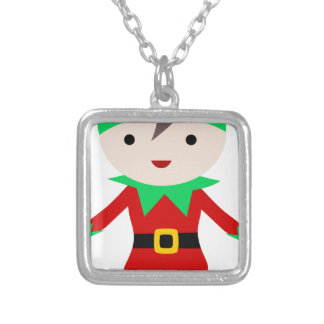 Worker Elf Silver Plated Necklace