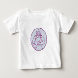 Worker Haz Chem Suit Oval Mono Line Baby T-Shirt