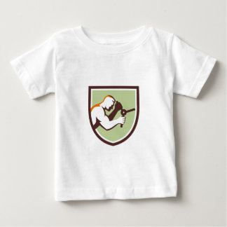 Worker Opening Safe Handle Crest Retro Baby T-Shirt