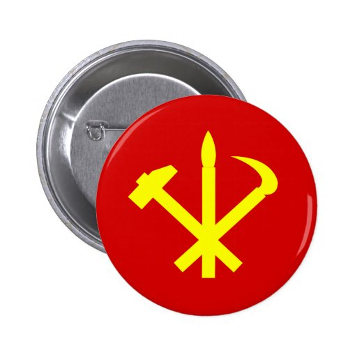 Workers'27 Party Of Korea, Colombia Political Pinback Button