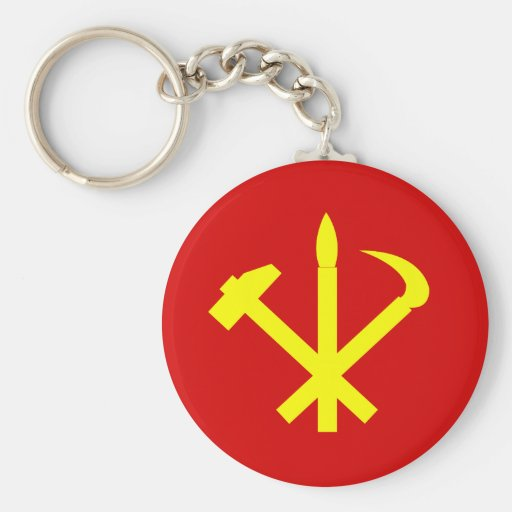 Workers'27 Party Of Korea, Colombia Political Keychains
