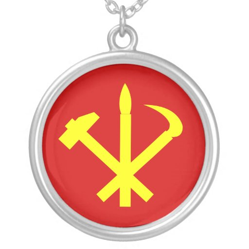 Workers'27 Party Of Korea, Colombia Political Personalized Necklace