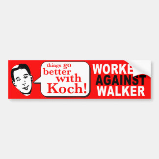 Workers Against Walker Bumper Sticker