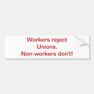 Workers Bumper Sticker