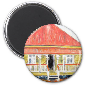 Workers Cottage 2 Inch Round Magnet