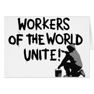 WORKERS THE WORLD UNITE GRAFFITI SPRAY-PAINTING MO CARD