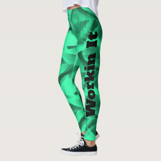 Workin It green swirl leggings